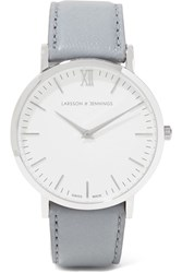 Larsson And Jennings Lugano Leather Stainless Steel Watch Light Gray