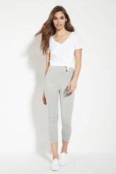 Forever 21 Capri Leggings Light Heather Grey