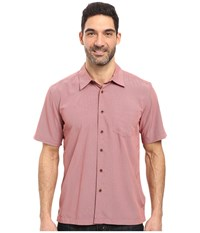 Quiksilver Cane Island Woven Top Rosewood Men's Short Sleeve Button Up Red