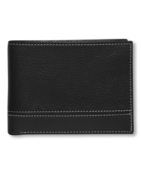 Perry Ellis Premium Leather Sheridan Bifold Wallet Black