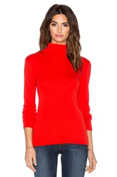 Splendid 1X1 Turtleneck Sweater Red