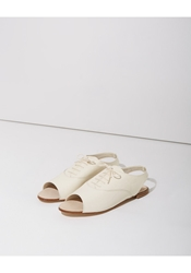 Repetto Vip Open Toe Oxford Milk Patent