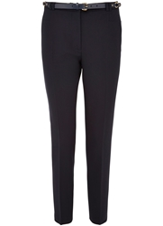 Cc Stretch Straight Leg Trouser Navy