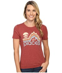 Life Is Good Go Places Cool Tee Rustic Red Women's T Shirt Orange