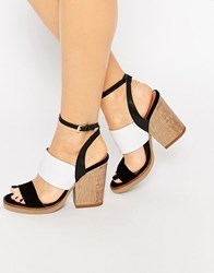 New Look Premium Colour Block Sandal Black