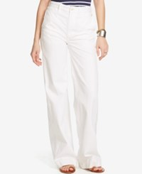 Denim And Supply Ralph Lauren High Rise Wide Leg Sailor Pants White