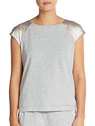 Peserico Satin Cap Sleeve Sweatshirt Grey