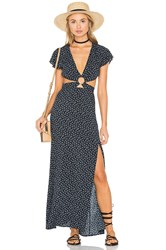 Reverse Gypsy Maxi Dress Navy