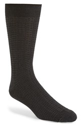 Men's Nordstrom Men's Shop Waffle Knit Cotton Blend Socks Charcoal