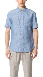 Gitman Brothers Vintage Short Sleeve Button Down Shirt Chambray