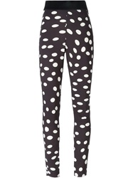 Emanuel Ungaro Polka Dot Leggings Black