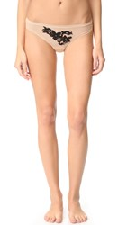 Cosabella Speakeasy Low Rise Thong Nude Black