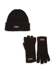 Ugg Two Piece Glove And Hat Set Black