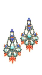 Elizabeth Cole Becca Earrings Tangerine