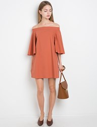 Pixie Market Rust Off The Shoulder Dress