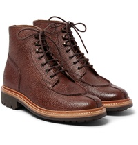 Grover Grained Leather Boots