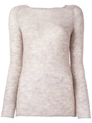 Forte Forte Ribbed Fine Knit Jumper Nude And Neutrals