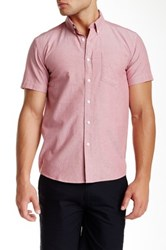 Saturdays Surf Nyc Esquina Short Sleeve Oxford Red