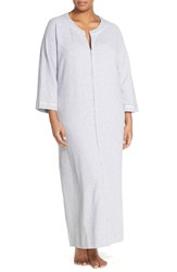 Plus Size Women's Carole Hochman Designs Waffle Knit Zip Robe