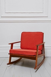 Mid Century Rocking Chair In Orange Urban Outfitters