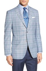 Men's David Donahue Classic Fit Plaid Linen And Wool Sport Coat
