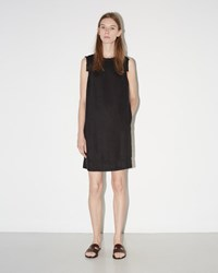 Raquel Allegra Sleeveless Shift Dress Black