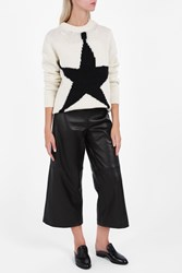Acne Studios Women S Shauni Star Oversized Jumper Boutique1 White