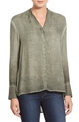 Women's Young Fabulous And Broke 'Theresa' High Low Woven Top Olive