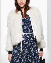 Tommy Hilfiger Tommyxgigi Faux Fur Jacket Only At Macy's Snow White