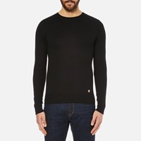 Versace Collection Men's Medusa Logo Knitted Jumper Black