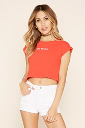 Forever 21 Like For Like Graphic Crop Top