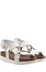 Marc Jacobs Leather Sandals With Cork Midsole