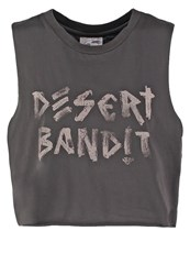 All About Eve Desert Bandit Top Washed Grey Anthracite