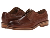 Trask Fiske Cognac American Steer Men's Lace Up Wing Tip Shoes Black