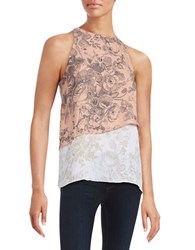 Bailey 44 Victor Tiered Floral Tank Top Pink
