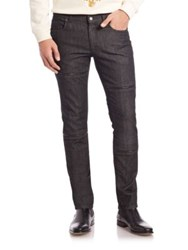 Versace Zippered Slim Fit Jeans