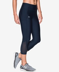 Under Armour Fly By Heatgear Capri Leggings Midngith Navy