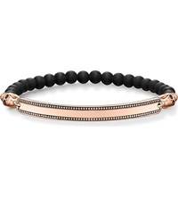 Thomas Sabo Skull Love Bridge 18Ct Rose Gold Plated Bracelet