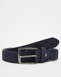 New Look Belt In Faux Suede Navy