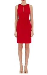 Giulietta Women's Keyhole Neck Silk Crepe Sheath Dress Red