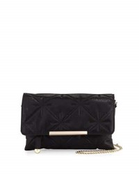 Neiman Marcus Quilted Chain Strap Crossbody Bag Black