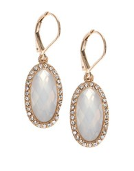 Lonna And Lilly Faceted Worn Goldtone Drop Earrings White