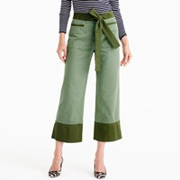 J.Crew Cropped Two Tone Chino With Tie