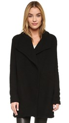 James Perse Open Drape Cardigan Black