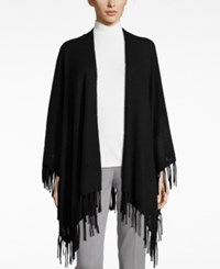 Charter Club Cashmere Fringe Wrap Cardigan Only At Macy's Classic Black