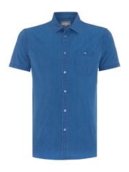Linea Morrison Denim Short Sleeve Shirt Blue