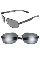Ray Ban 62Mm Polarized Sunglasses Black
