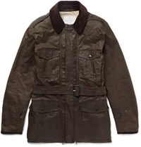 Kingsman Mackintosh Merlin Corduroy Trimmed Waxed Cotton Field Jacket Unknown