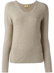 Fay Scoop Neck Sweater Nude And Neutrals