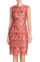 Women's Chetta B Corded Lace Sheath Dress